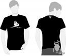 T-shirt DROP negru - just drop it