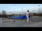 Mihai Tuhari - varial heelflip in bank @ Bucuresti Skatepark Tineretului