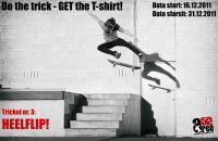 Area52 Do the trick - GET the T-shirt! Etapa 3: Heelflip