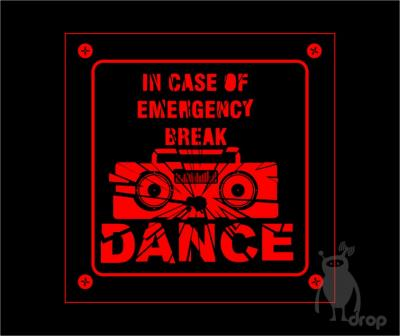 T-shirt DROP negru - break dance