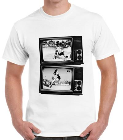 Tricou Old TV de la unite wear white