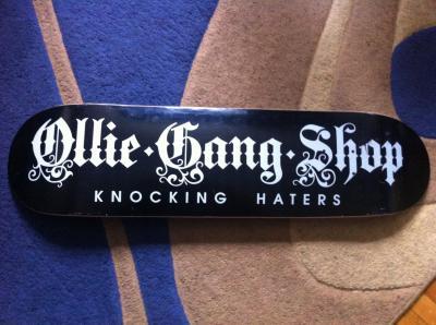 Placa Ollie Gang Shop 8.0