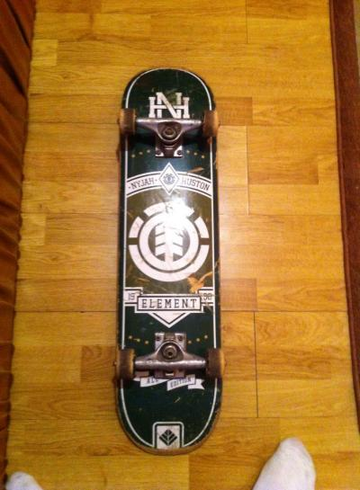 Skate Element Nyjah Huston + axe venture + roti si rulmenti enjoi