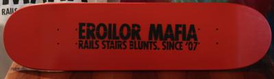 EROILOR MAFIA - STENCIL RED DECK 7.75 - LOW CONCAVE | GRIPTAPE INCLUS