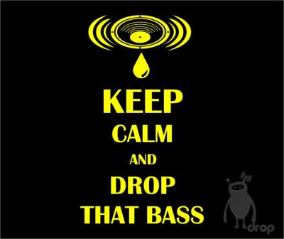 T-shirt DROP negru - drop that bass